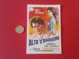 SPAIN ANTIGUO PROGRAMA DE CINE FOLLETO MANO OLD CINEMA PROGRAM PROGRAMME FILM PELÍCULA ALTA TENSIÓN MARISA MELL VER FOTO - Publicidad