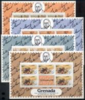 Grenada 1979 Sir Rowland Hill Death Centenary 4xsheetlet MUH - Grenada (1974-...)