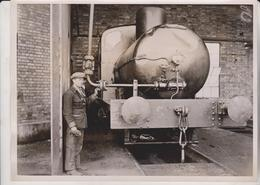 ENGINE WITHOUT FIRE GREENHITHE KENT EMPIRE PAPER MILLS PRINCE OF WALES  20*15 CM Fonds Victor FORBIN 1864-1947 - Trenes