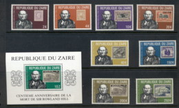 Zaire 1980 Sir Rowland Hill Death Centenary +MS MUH - Zaire
