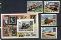 Upper Volta 1979 Sir Rowland Hill Death Centenary +MS MUH - Upper Volta (1958-1984)