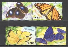 K852 2000 NIUAFO'OU FLORA & FAUNA BUTTERFLIES #367-70 1SET MNH - Papillons