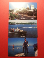 ASTRAKHAN 3 First Card Landscape Fishing Harbour URMET MINT NEUVE RUSSIE URSS ASTRAKAN (BI1216) SVYAZINFORM - Russie
