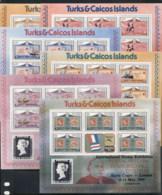 Turks & Caicos Is 1979 Sir Rowland Hill Death Centenary 6xsheetlet MUH - Turks And Caicos