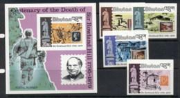 Bhutan 1979 Sir Rowland Hill Death Centenary +MS IMPERF MUH - Bhutan
