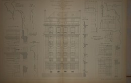 Plan De La Caisse Des Dépôts Et Consignations à Paris, Rue De Lille.M. F. Julien, Architecte. 1884. - Travaux Publics