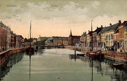 Breda -  Haven (animatie, Gekleurd, Foto A. Van Erp 1907) - Breda