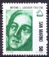 San Marino 1982 MNH, Antoine Lavoisier, Father Of Modern Chemistry  ( - Chemistry