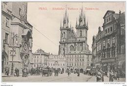 PRAG:  ALTSTADTER  RATHAUS  U.  TEINKIRCHE  -  KLEINFORMAT - Repubblica Ceca