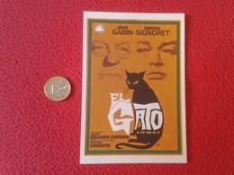 SPAIN ANTIGUO PROGRAMA DE CINE FOLLETO MANO OLD CINEMA PROGRAM PROGRAMME FILM PELÍCULA EL GATO THE CAT SIMONE SIGNORET - Publicidad