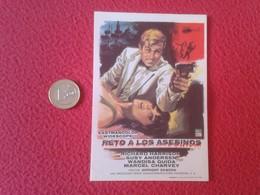 SPAIN ANTIGUO PROGRAMA DE CINE FOLLETO MANO CINEMA PROGRAM PROGRAMME FILM PELÍCULA RETO A LOS ASESINOS RICHARD HARRISON - Publicidad
