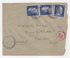 - Lettre Exprès CENSURÉE FRANKFURT (Allemagne) Pour PARIS (France) 10.1.1944 - A ETUDIER - - Allemagne