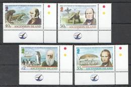 G1108 2009 ASCENSION ISLAND FAUNA BIRDS REPTILES CHARLES DARWIN 1SET #1090-3 !!! MICHEL 13 EURO !!! MNH - Timbres