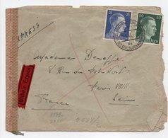- Lettre Exprès CENSURÉE FRANKFURT (Allemagne) Pour PARIS (France) 27.5.1943 - A ETUDIER - - Allemagne