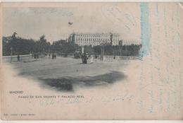 CPA  Espagne. Madrid. Paseo De San Vincente Y Palacio Real 1902 - Madrid