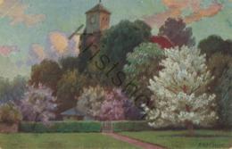 Kerk Met Bomen - Church With Trees - F. Alexander  [2A-2.840 - Paintings