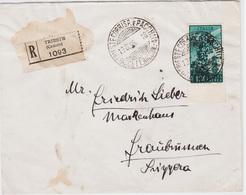 Trieste A, Lettera In Tariffa Destinazione Svizzera Sass. PA 13 (4987)04987 - Storia Postale