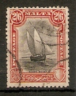 MALTA 1926 2s 6d SG 169 FINE USED Cat £55 - Malta (...-1964)