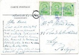 Oblitération Paquebot ALBERTVILLE (C.M.B.) Sur CV Vers Liège (1922) - Congo Belge