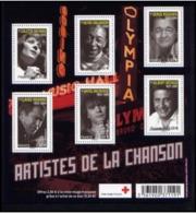 B-F TIMBRE - F4605 - ARTISTES DE LA CHANSON - 2011  - Voir Scan - Bloc De Notas & Hojas