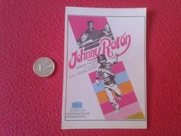 SPAIN ANTIGUO PROGRAMA DE CINE FOLLETO MANO OLD CINEMA PROGRAM PROGRAMME FILM PELÍCULA JOHNNY RATÓN ROBERT PACKER AHUI - Publicidad