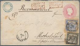 Baden - Marken Und Briefe: 1862, 1 Kr Schwarz Und 6 Kr Ultramarin Als Zusastzfrankatur Auf 3 Kreuzer - Baden