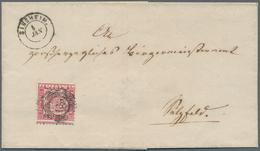 Baden - Marken Und Briefe: 1863 (ca.) Brief Mit Einzelfrankatur 3 Kreuzer Mit Verschobener Zähnung V - Baden