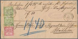 """Baden - Marken Und Briefe: 1862/68, Wappen """"3 KREUZER"""" Rosa Zusammen Mit Paar """"1 Kr."""" Hellgrün Als A - Baden"""