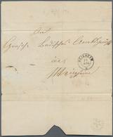 Baden - Marken Und Briefe: 1862, Wappen Auf Weißem Grund 6 Kr. Ultramarin Und Paar 1 Kr. Schwarz Mit - Baden