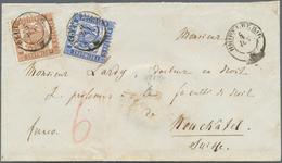 Baden - Marken Und Briefe: 1862, 9 Kr Rötlichbraun Und 6 Kr. Ultramarin Auf Brief Von Heidelberg 5.6 - Baden