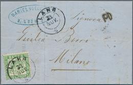 Baden - Marken Und Briefe: 1862, 18 Kreuzer Lebhaftgrün Als Portogerechte Einzelfrankatur Auf Auslan - Baden