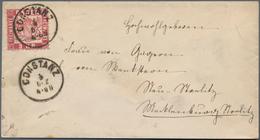Baden - Marken Und Briefe: 1868, 3 Kreuzer Rosarot Mit Klarem K1 CONSTANZ Auf Adelsbrief Nach Neu-St - Baden