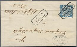 Baden - Marken Und Briefe: 1870/1871, Hochinteressantes Briefe-Paar Mit 3 Kreuzer Rosarot, Klar Entw - Baden