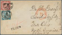 """Baden - Marken Und Briefe: 1868, Wappen 7 Kr. Blau Und 3 Kr. Rot Auf Couvert Mit K1 """"HEIDELBERG 10 J - Baden"""