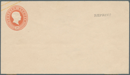 "Baden - Ganzsachen: 1864, Umschlag 18 Kr, Format A, Neudruck, Vs. ""REPRINT"", Rs. Papierrest. Michel - Baden"