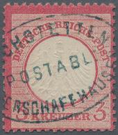 Baden - Postablagestempel: EICHSTETTEN POSTABL: OBERSCHAFFHAUSEN Ovaler Blauer Stempel Zentrisch Auf - Baden