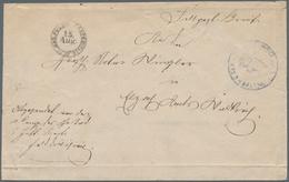 """Baden - Feldpost: 1870, Feldpostbrief Mit Stempel """"GR. BAD. F.P. EXP. 15. AUG"""" Und Etwas Schwchem Tr - Baden"""