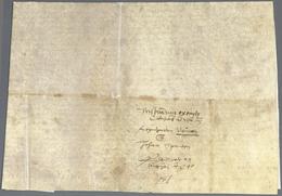 Bayern - Vorphilatelie: 1540, SPEYER, Anwaltsurkunde Auf Pergament Mit Anwalts-Symbol Aus Wimpfen Be - Duitsland