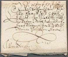 Bayern - Vorphilatelie: 1680, Interessanter Schnörkelbrief Mit 2 Seiten Inhalt Von STRAUBING Nach We - Duitsland