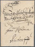 Bayern - Vorphilatelie: 1683, Kleiner Faltbrief Geschrieben In Nürnberg Nach Lissabon Mit Handschrif - Duitsland