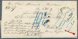 Bayern - Vorphilatelie: 1860, KLOSTER HEILSBRONN, Postvorschussbrief über 59 1/2 Kr. Nach Wittenberg - Duitsland