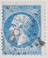 France,1854,20c,Y&T N.14.oblitération Etoile De Paris 8 Agde Herault - 1853-1860 Napoléon III