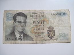 BILLET 20 Francs 15-06-64 ROYAUME DE BELGIQUE Dans L'état - Otros