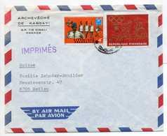 - Lettre ARCHEVÊCHÉ DE KABGAYI (Rwanda) Pour MEILEN (Suisse) 6.9.1973 - Bel Affranchissement Philatélique - - Ruanda