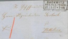 1867 RACKWITZ (RB Posen) Bfh N. Wollstein - Deutschland