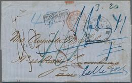 Thurn & Taxis - Besonderheiten: 1866, Interessanter Transatlantikbrief Ab NEW YORK über Le Havre Nac - Thurn En Taxis