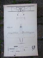 DISEGNO SU CARTA DA ELIOCOPIA AEREO CAPRONI CA 134 - Technical Plans