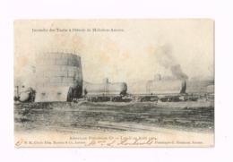 Incendie Des Tanks à Pétrole De Hoboken-Anvers.29 Août 1904.Expédié à Villiers-Saint-Georges (Seine-et-Marne/France) - Antwerpen
