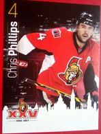 Ottawa Senators Chris Phillips - Singles