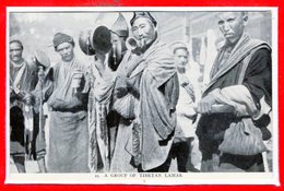 ASIE - TIBET --  A Group Of Tibetan  Lamas - Tibet